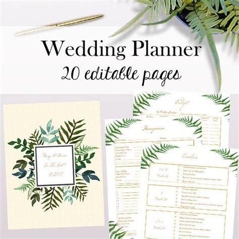 cute wedding planner printable wedding planner pdf editable wedding planner printables