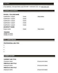 resume format print out chronological free blank resume template