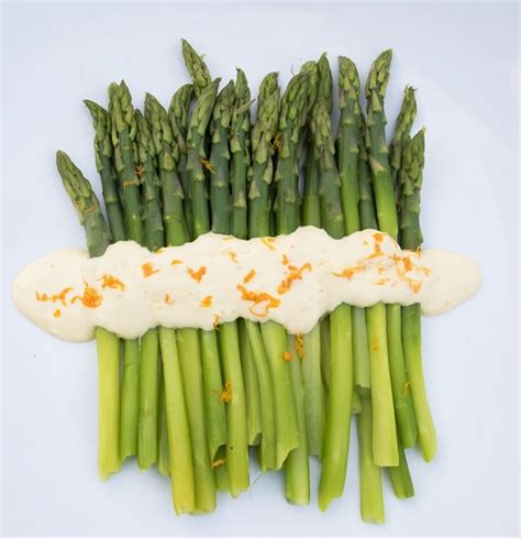 orange mayonnaise asparagus with orange mayonnaise lemon thyme and ginger