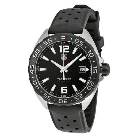 Jam Tangan Pria Tagheur F 1 1 tag heuer formula 1 black leather s waz1110 ft8023 s watches jomashop