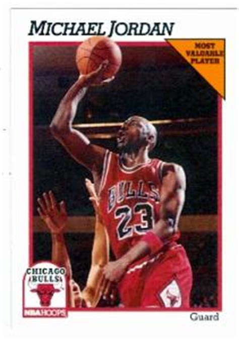 Michael Rookie Of The Year Card Mba Hoops by Michael Basketball Card 1991 Nba Hoops 30 Chicago