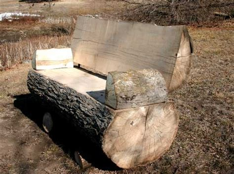 how to make a garden bench from logs 19 creative ways of turning logs and stumps into garden