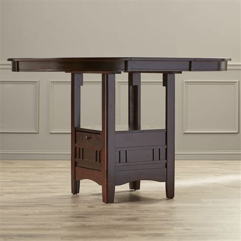 alcott hill norwalk counter height extendable dining table