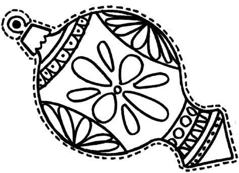 christmas ornament coloring pages getcoloringpagescom