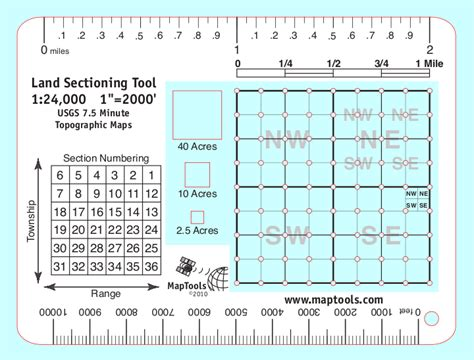 1 section of land maptools product land sectioning tool for 1 24 000