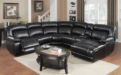 motion whittier black reclining sectional  chaise