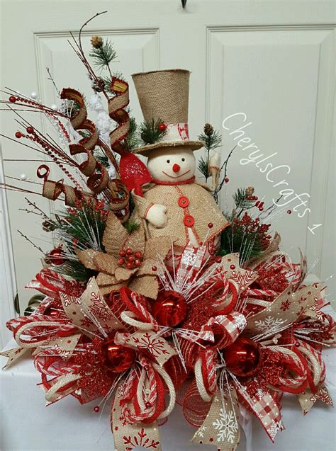 deco mesh christmas centerpiece christmas arrangements christmas floral arrangements