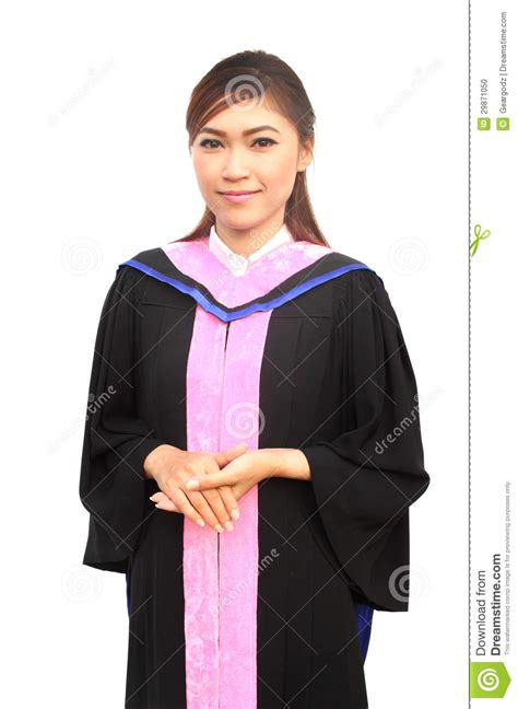 graduation women  degree suit stock photo image