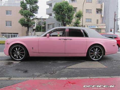 roll royce pink car news pink wrapped rolls royce phantom by office k