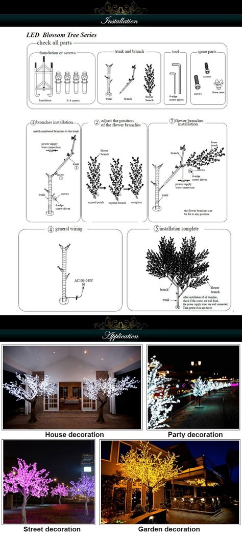 red bank tree lighting 2017 2017 red outdoor artificial led light cherry blossom trees
