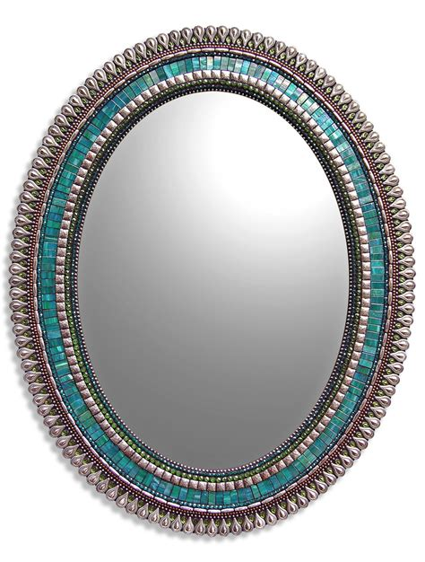 Mirror Mosaic L by Teal Drop By Angie Heinrich Mosaic Mirror Artful Home