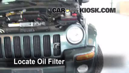 2004 jeep liberty filter location filter change jeep liberty 2002 2007 2002 jeep