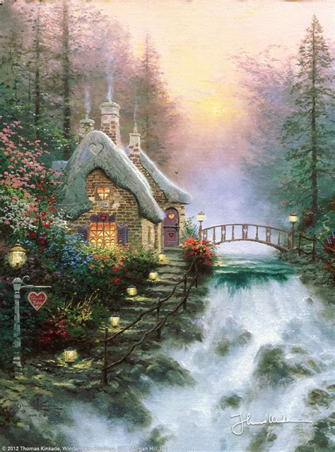 cottage paintings by kinkade sweetheart cottage ii by kinkade and painting
