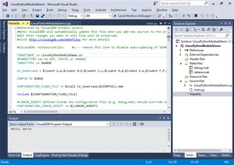 tutorial python en linux developing linux c python modules with visual studio