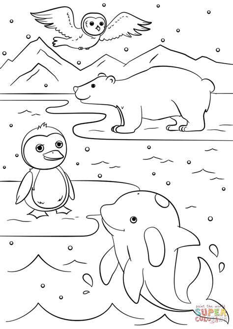free coloring pages animals in winter winter animals coloring page free printable coloring pages