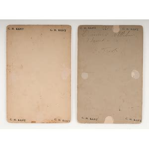 addison auction house addison fort sill oklahoma territory cabinet cards featuring portrait of two