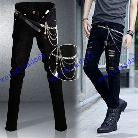jeans style 2015 men 2018 2015 fashion new ripped skinny jeans mens personality