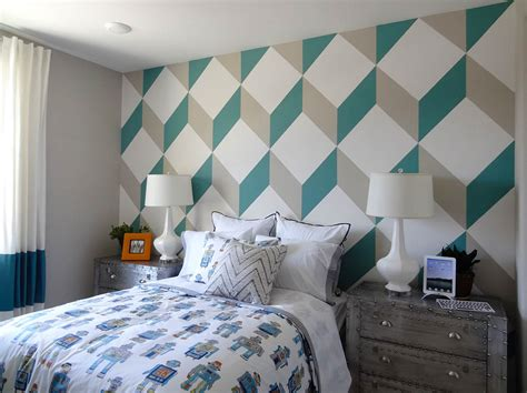 pattern accent wall ideas delightful wall paint ideas