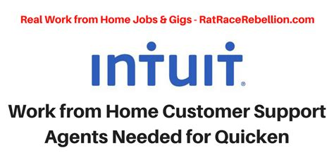 work from home customer support agents for intuit s