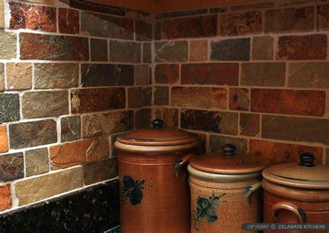brown slate mosaic subway backsplash tile backsplash com