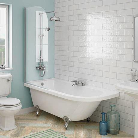 roll top bath shower screen appleby 1700 roll top shower bath with screen chrome leg set plumbing uk