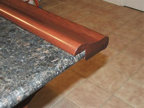 bar top molding chicago bar rail fastened to granite
