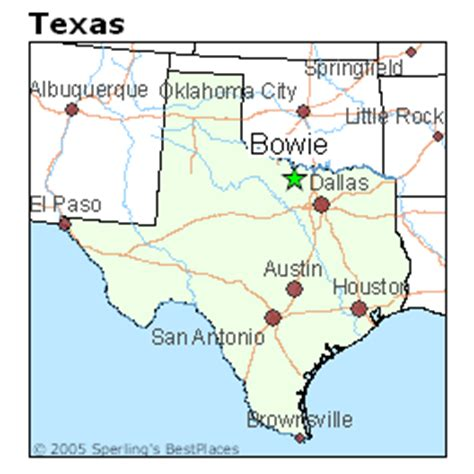 bowie texas map best places to live in bowie texas