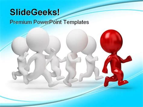 templates powerpoint leadership red leader business leadership powerpoint template 1110