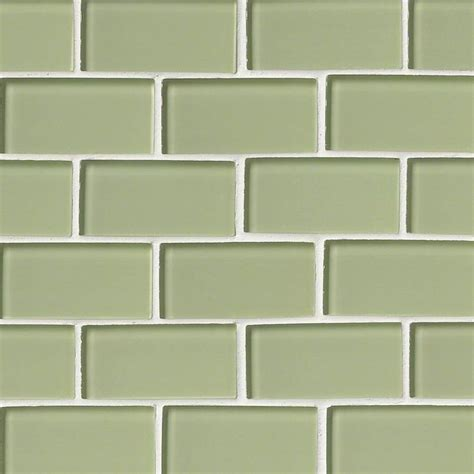 subway tile mint green glass subway tile 2x4