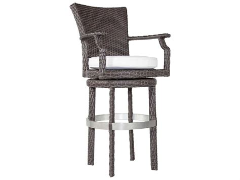 wicker bar stools with arms patio heaven signature palisades wicker swivel round