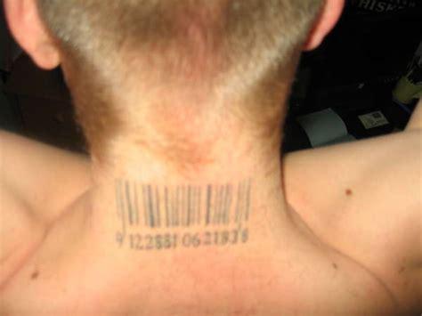 barcode tattoo on chest barcode tattoo on man nape