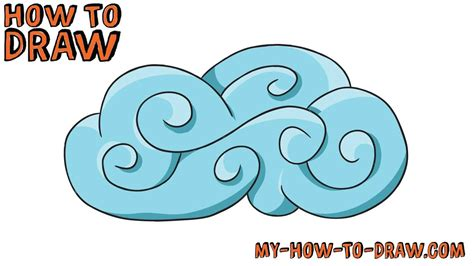 drawings of clouds simple how to draw curly clouds easy step by step drawing