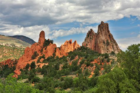 Garden Of Colorado Garden Of The Gods Colorado Springs Co Photograph By