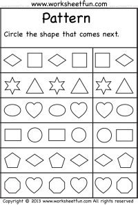pattern worksheet what comes next extending patterns worksheets kindergarten finish the