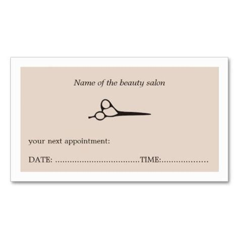 salon appointment cards template 63 best appointment business cards images on