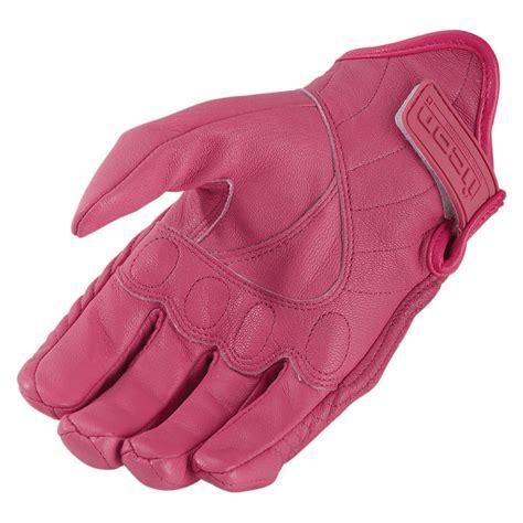 Motorradhandschuhe Rosa by Icon Pursuit Stealth Motorradhandschuhe Leder Pink