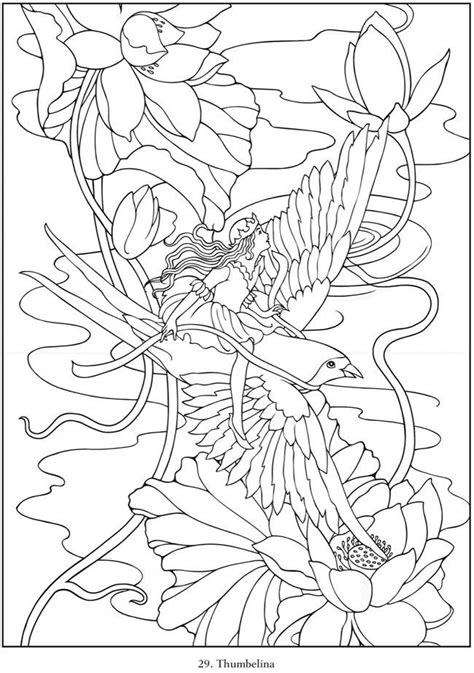 free coloring pages of fairy tale anime