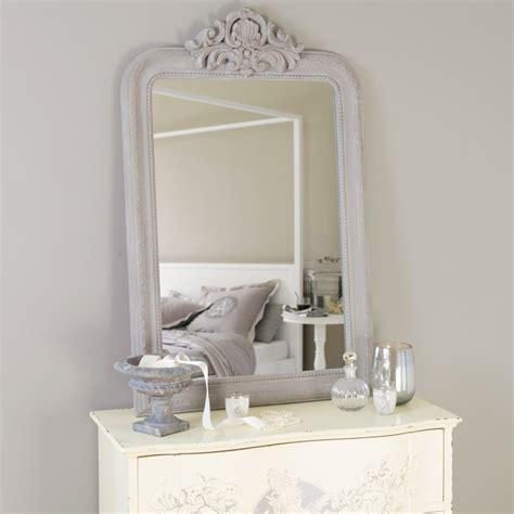 miroir sculpt 233 en bois de paulownia gris h 120 cm altesse