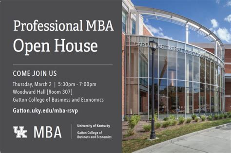 Wmu Mba Open House by Gatton College To Host Professional Mba Open House On