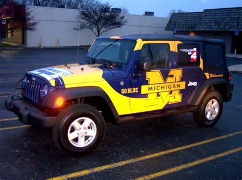 Jeep Michigan Michigan Wolverines Jeep Jk Wrangler