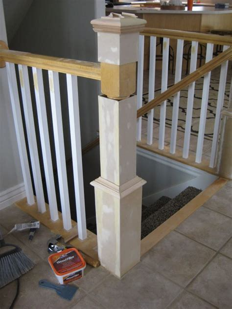 Banister Post Tops remodelaholic stair banister renovation using existing newel post and handrail