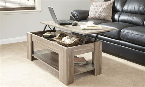 lift up top coffee table new caspian walnut lift up top coffee table with storage