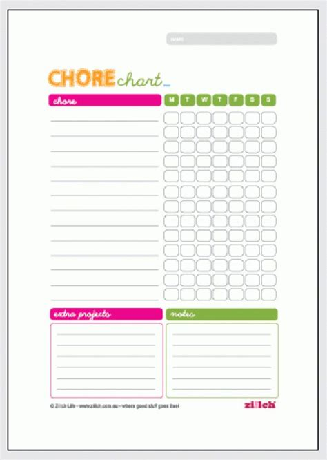chore charts weekly chore charts and weekly chores on