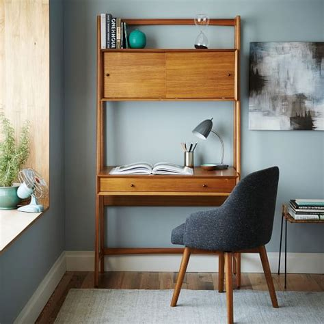 west elm office desk mid century wall desk west elm