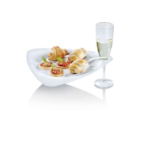 piatti bicchieri piatto triangolare biodegradabile con foro porta bicchiere