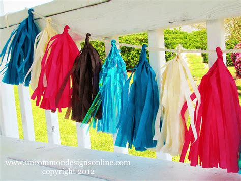 How To Make A Tissue Paper Tassel Garland - how to make a tassel garland from tissue paper uncommon