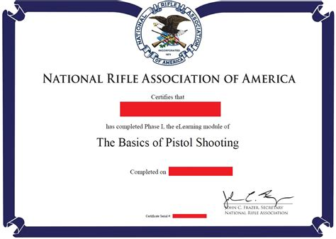 nra certificate template nra basic pistol armed2defend