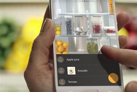 samsung smart app samsung s family hub refrigerator lets you see what s