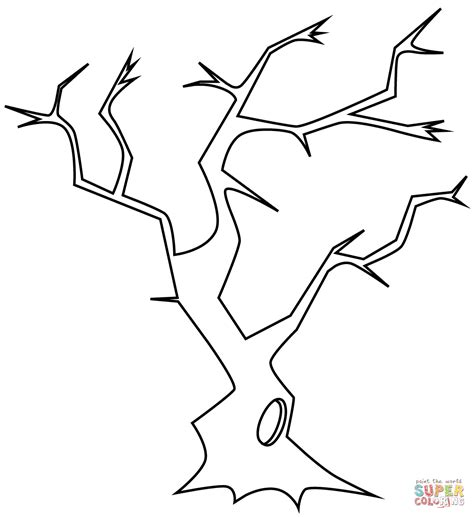 free coloring pages of a bare tree bare tree coloring page coloring home