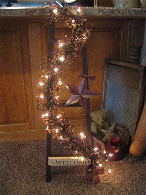 Primitive Home Decor 82 Best Images About Primitive Ladder Ideas On Ladder Decor Tobacco Sticks And